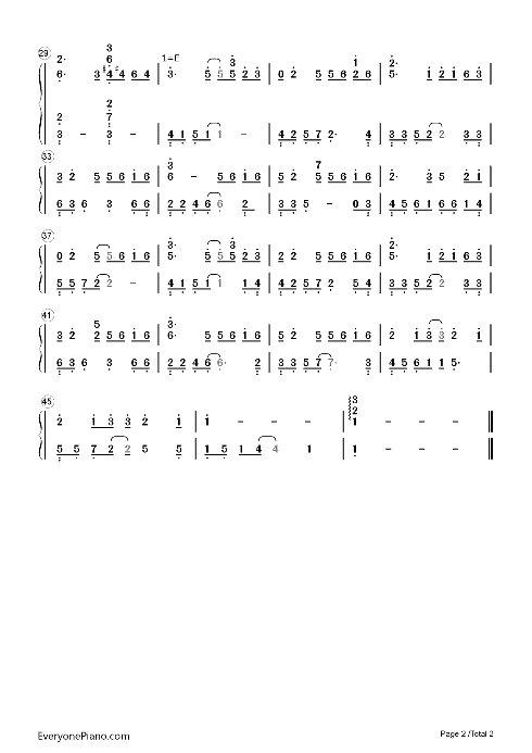 遇见 钢琴 谱 简单 版