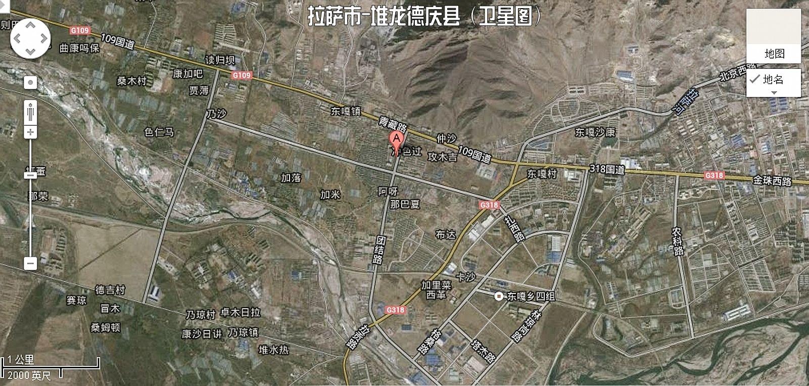 德庆龙�yn�y��9�g��9�izj�_堆龙德庆镇卫星清晰图