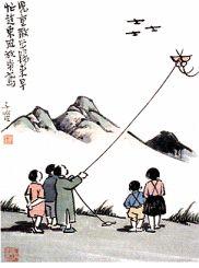 村居里的忙趁东风放纸鸢是什么意思