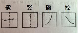 田字格写基本笔画_横撇在田字格里的格式是怎样的_百度知道