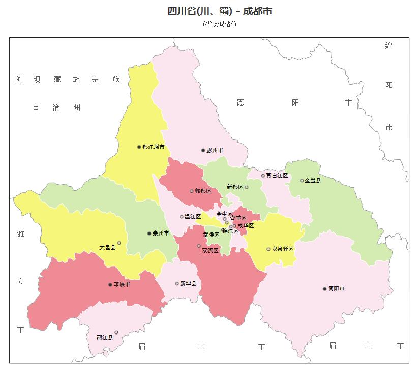 成都市行政区划图_大成都范围包括哪些?_百度知道