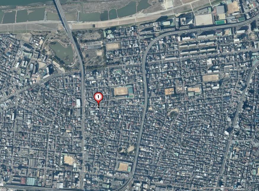 日本大阪市旭区中宫卫星地图
