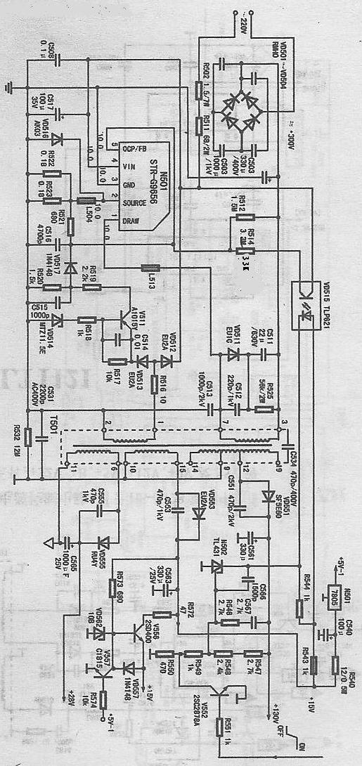 创维电视线路图_创维电源G9656电路图_百度知道
