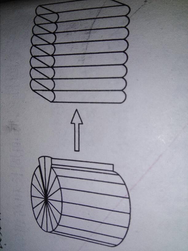 把一个圆柱切开,拼成与他等底等高的长方体 如图 ,这个长方体的表图片