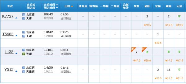 广州有去天津的高铁没