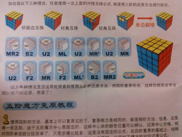 四阶魔方公式图解_四阶魔方特殊情况用的公式,图解_百度知道
