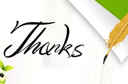急求一个PPT结束时用羽毛笔写THANK YOU的模板