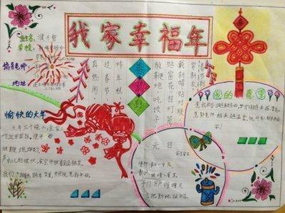二年级的青春自我,平安春节的手抄报