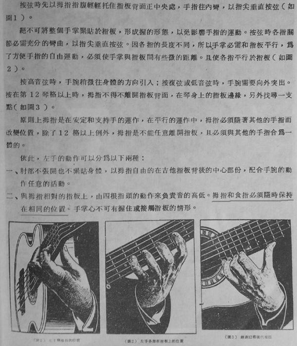 弹古典吉他左手大拇指位置