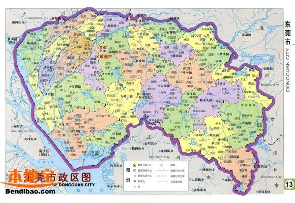 广东东莞东城地图_请问东莞的市区是属于哪里?_百度知道