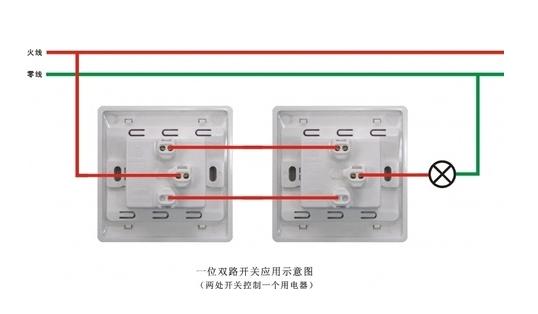 电灯单控开关接线图_一灯一控开关接线图_百度知道