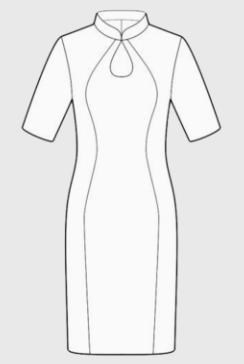 旗袍简笔画