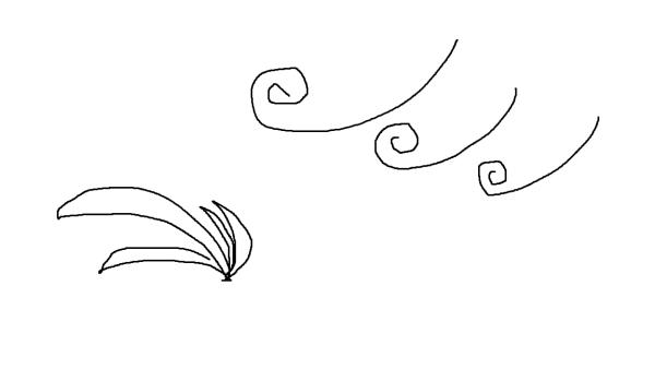 风的简笔画怎么画