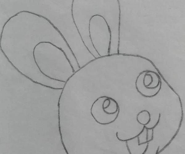 怎样画一个简笔画的兔子
