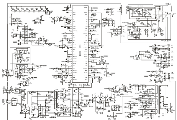 创维电视线路图_求助创维21T66AA电视机电路图,是我妈妈家的,坏了,急需图纸 ...