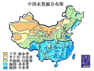 中国干湿地区空白图_中国缺水情况_百度知道