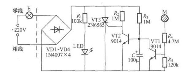 楼道声控感应开关_求简单的触摸开关电路原理图_百度知道