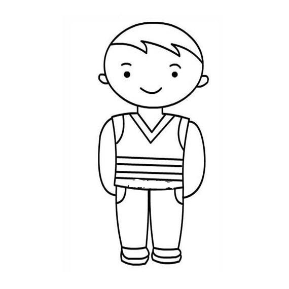 小男孩简笔画画法 小男孩简笔画步骤图