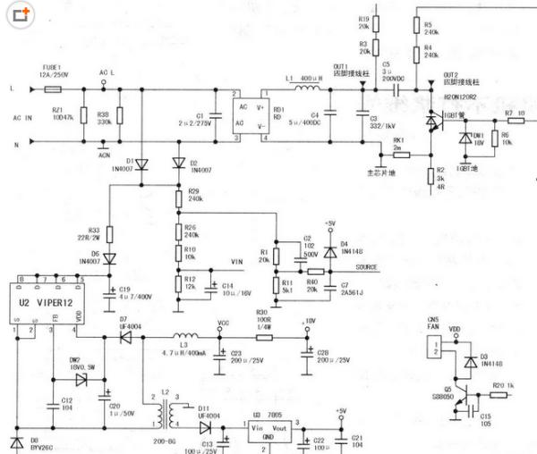 美的电磁炉st2123的电路图的r4的阻值图片