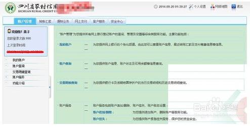 怎样登陆四川农村信用社个人网上银行