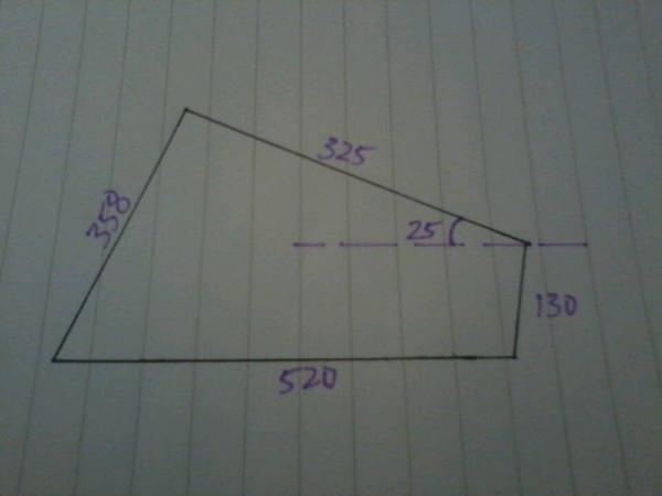 有一个角的部分大小,CAD如何画
