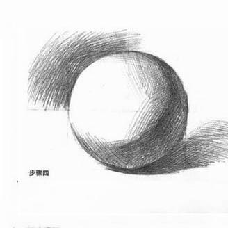 结构素描,球体的画法,素描入门如何画好球图片