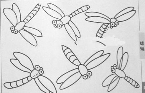 蜻蜓简笔画分步骤图解 蜻蜓简笔画怎么画图解 蜻蜓不同形态简笔画 如何画蜻蜓   请看下面蜻蜓简笔画: