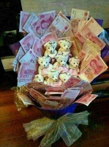 用钱做的花束图片高清_用钱叠花的图片_百度知道