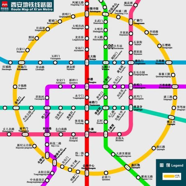 西安地铁八号线个站点名称是什么? 行业新闻