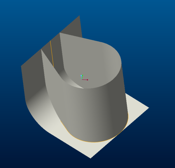 下面图中的扫描3D曲线用proe怎么画,求教。