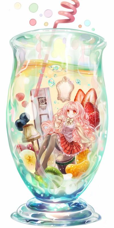 二次元萝莉水瓶少女