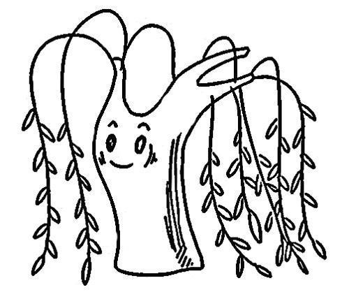 从往过密_儿童画简单柳树怎么画_百度知道