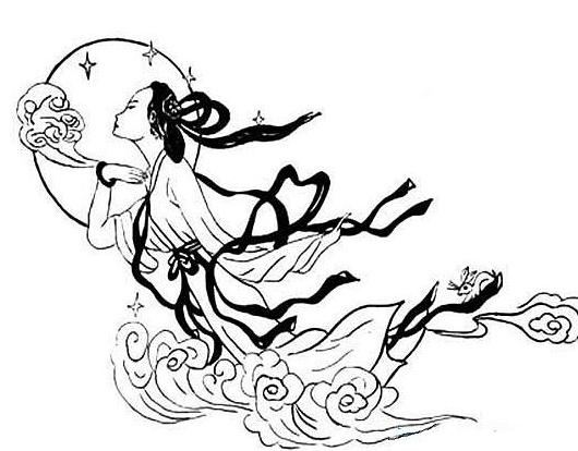 最漂亮的嫦娥怎么画简笔画