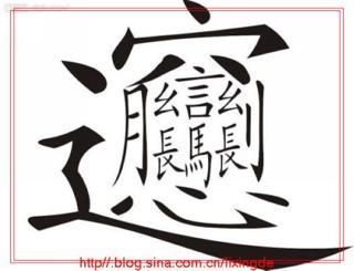 笔划最多的那个汉字,怎么读 怎么写 什么意思 好像记得上面是个穴字头
