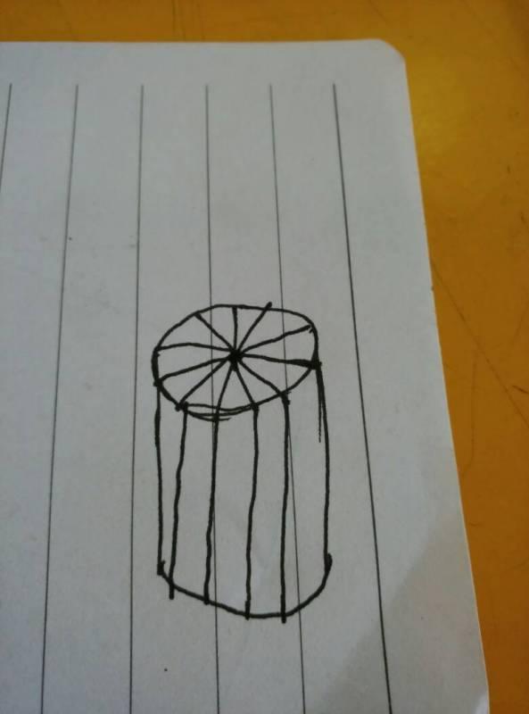 细解答 把一个圆柱沿底面半径切成若干等分,拼成一个近似的长方图片