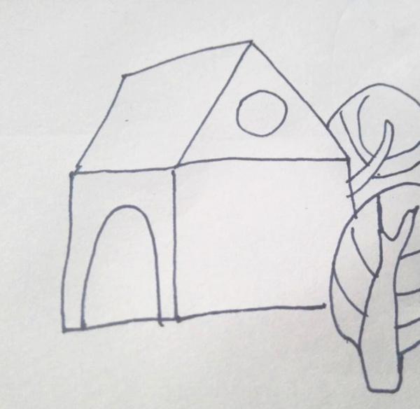 简笔画侧面小房子怎么画