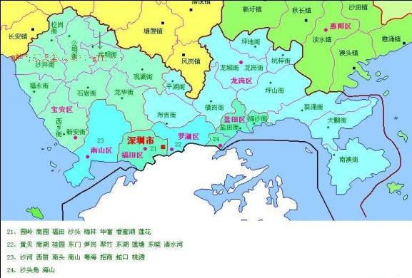 深圳城市地图_求深圳市详细的各区的片区分布地图!_百度知道