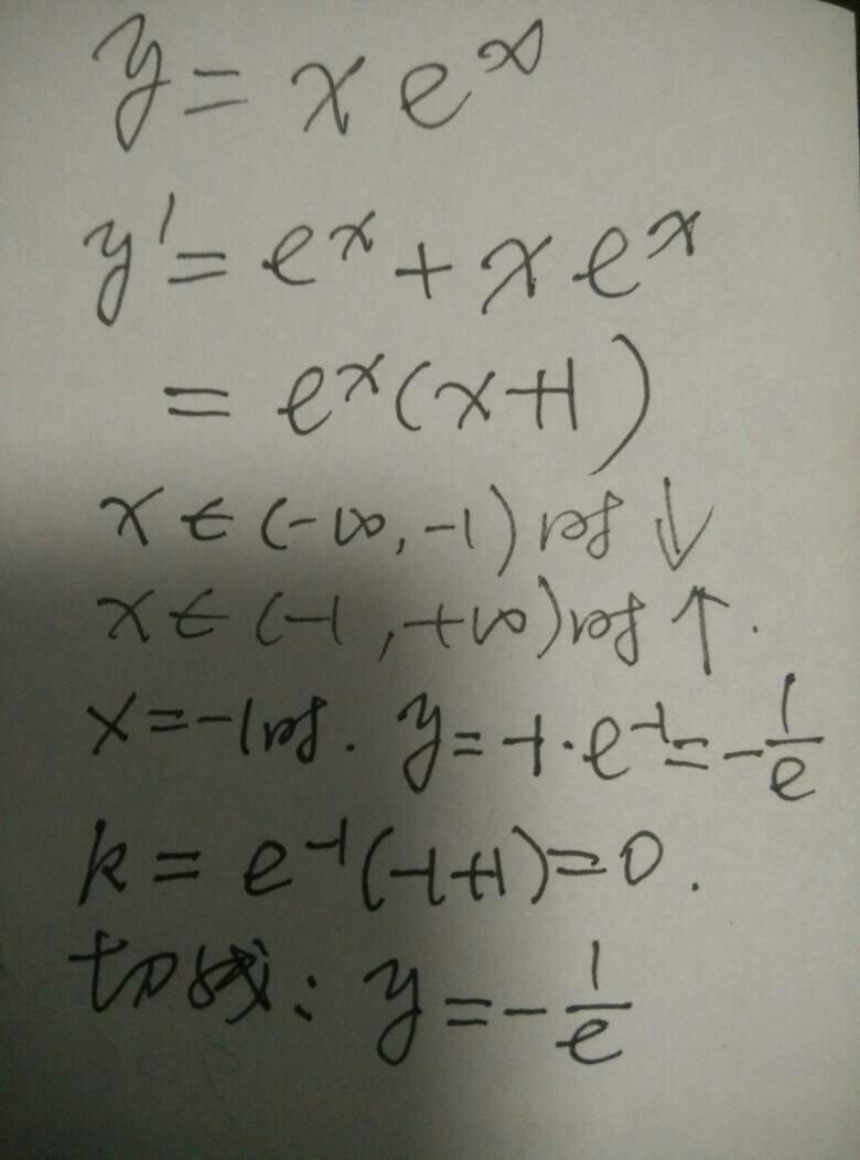 y=xex得导