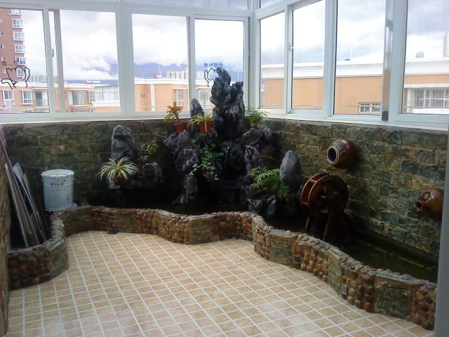 别墅庭院鱼池_庭院小型鱼池设计图展示_设计图分享