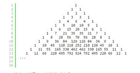 从杨辉三角形谈起