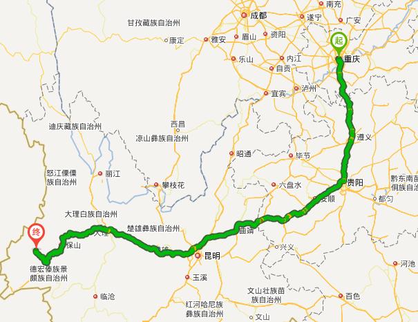 重庆到云南旅游报价_查重庆自驾游到云南腾冲有几条路可选择?