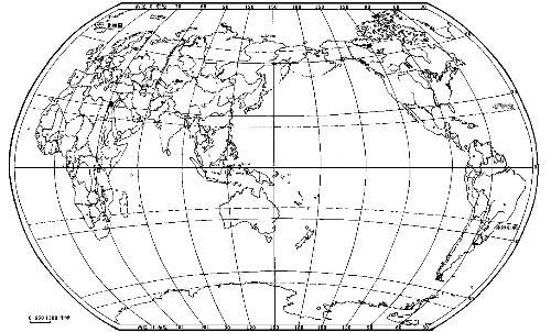 世界地图 有经纬度的
