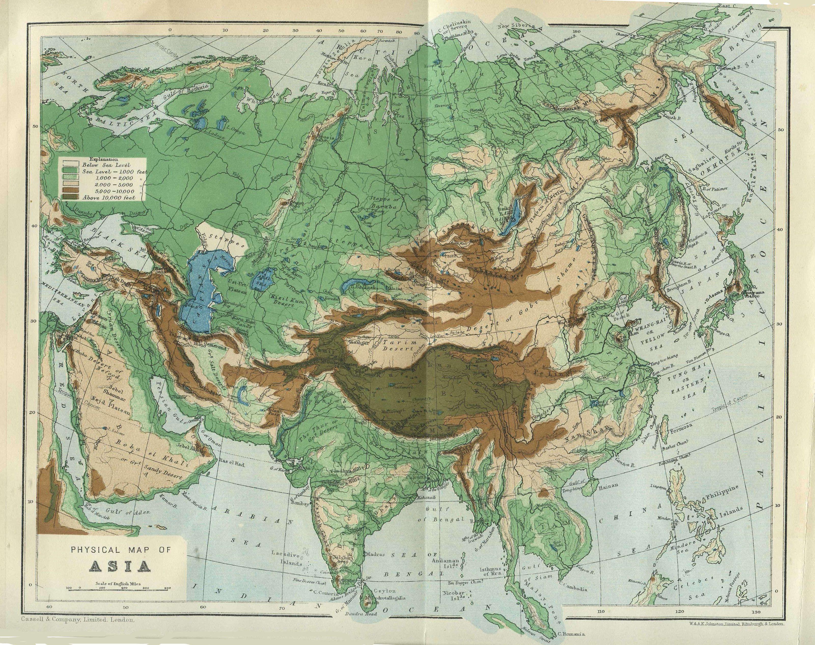 亚洲地形地图_亚洲地图_百度知道