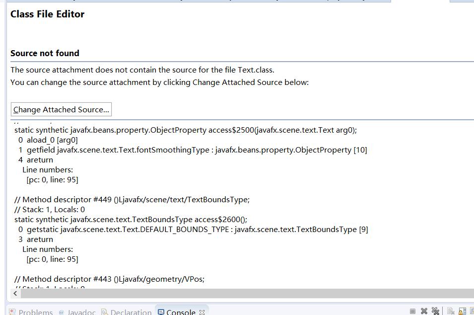 在eclipse上写JavaFX程序,导入了Javafx文档却不能看类的api_