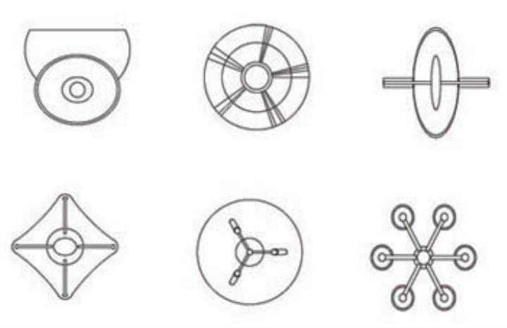 建筑學平面圖cad上的路燈畫法如下圖片