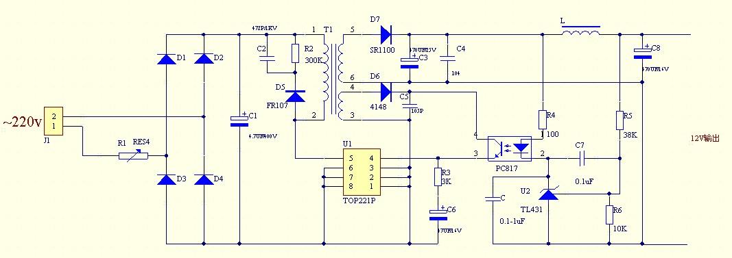 2a手机充电器电路图_求一个输出5V 1000mA手机充电器图,最好有原理分析和元件参数的 ...
