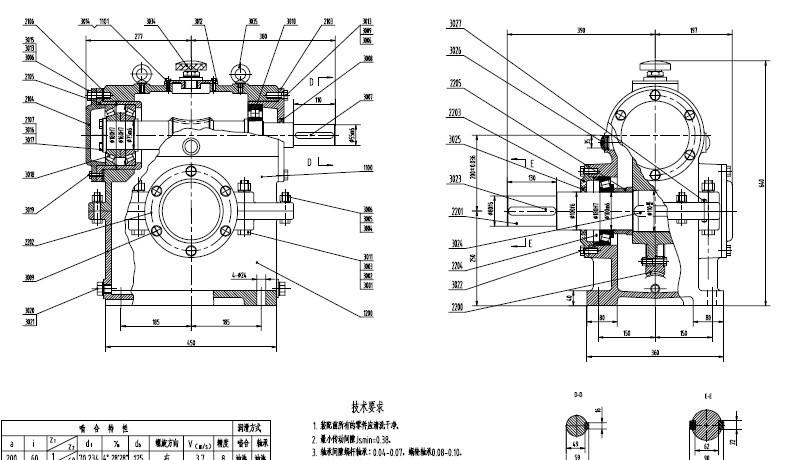 二级减速器箱体cad_急求!!!!哪位大神那有二级圆柱齿轮减速器CAD图纸( 装配图 ...