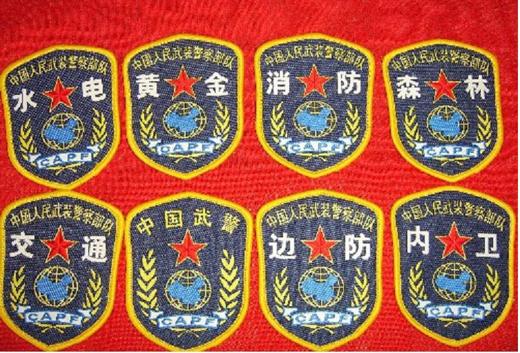 武警消防臂章图_为什么消防官兵的衬衫上印有中国武警四个字?_百度知道