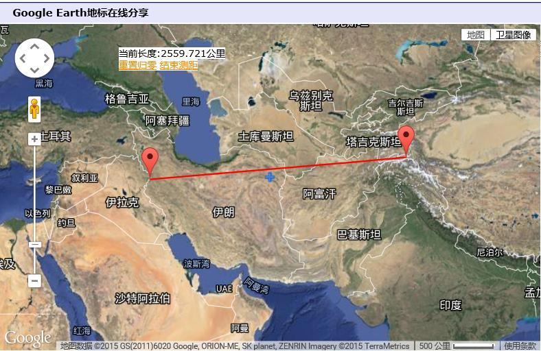 世界地图伊拉克位置