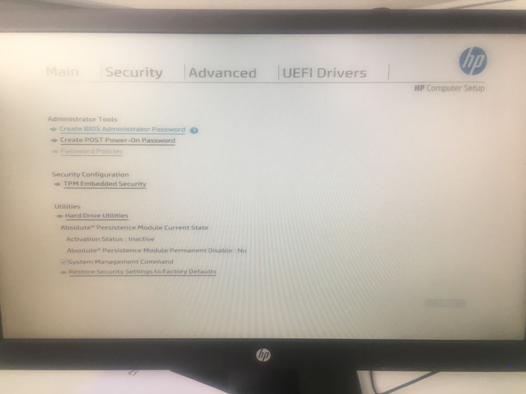 Hp Prodesk Bios Administrator Password